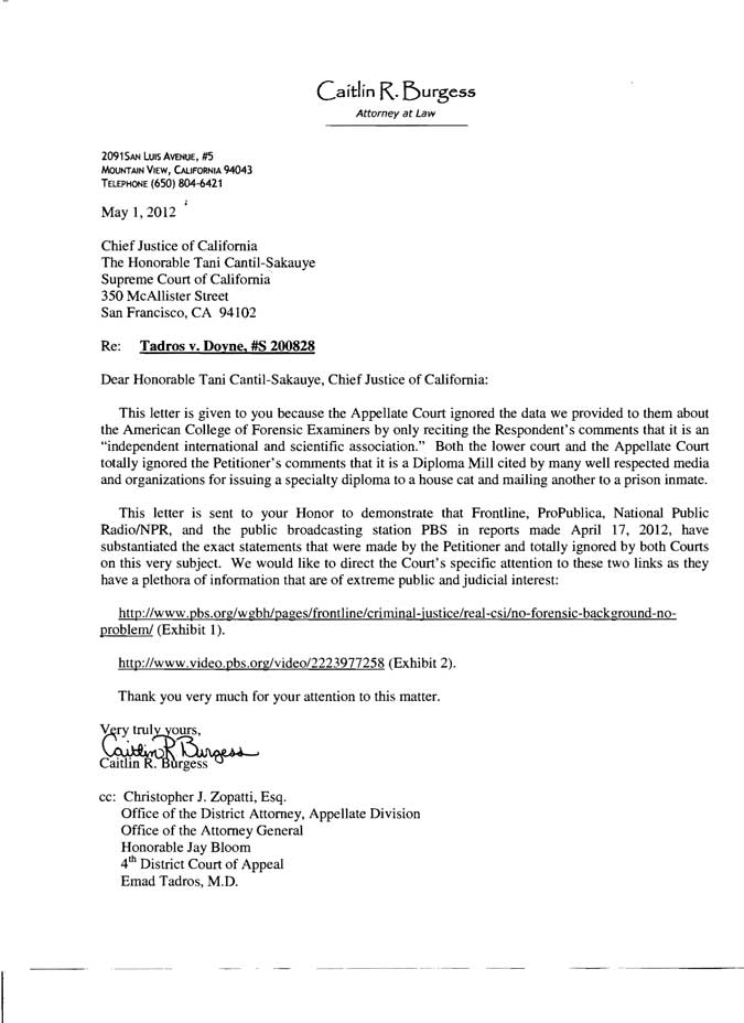 Complaint to CA State Bar - Attorney W. Robert Lesh; aka Bob Lesh