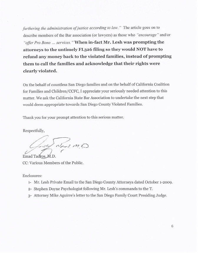 Complaint to ca state bar attorney w robert lesh aka bob lesh for thecheapjerseys Image collections