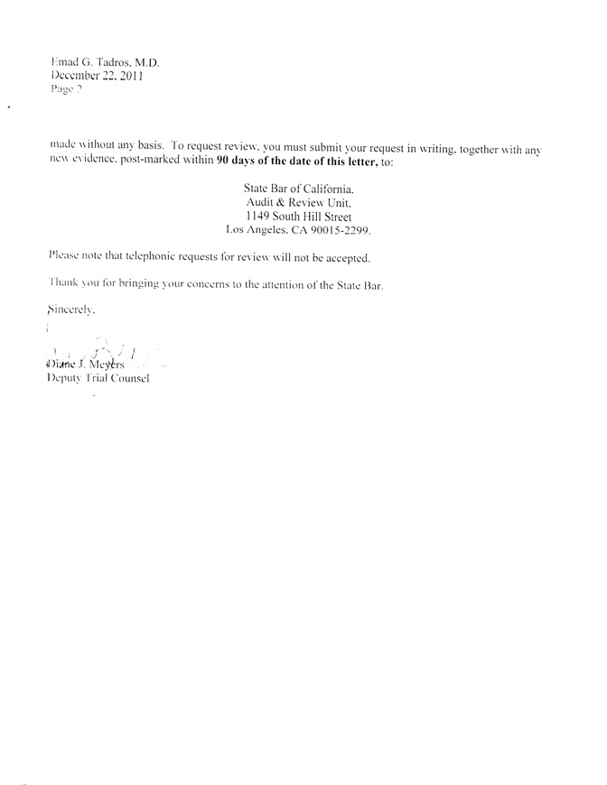 Complaint to CA State Bar - Attorney W  Robert Lesh