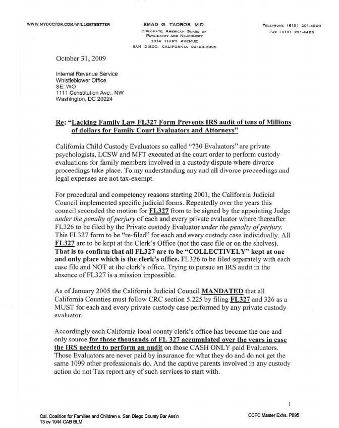 Complaint To Internal Revenue Service Irs Title 5 Crc 5
